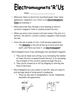 Let'-s Make an Electromagnet - TeacherVision