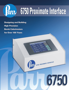 6750MB Proximate Interface Sales Literature