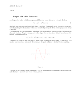 1 Shapes of Cubic Functions
