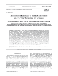 Responses of animals to habitat alteration