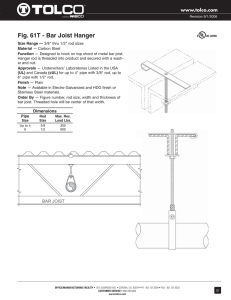 Fig. 61T - Bar Joist Hanger