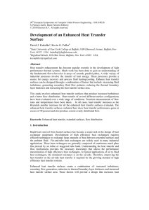 Development of an Enhanced Heat Transfer Surface