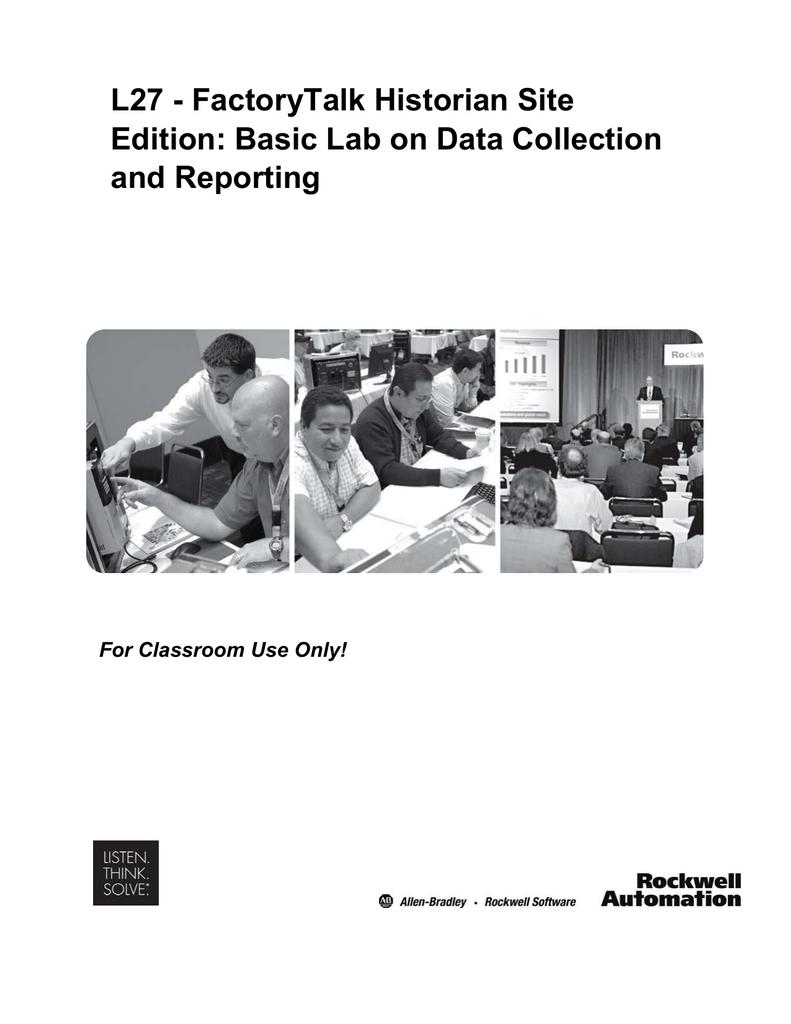 L27 - FactoryTalk Historian Site Edition: Basic Lab on Data