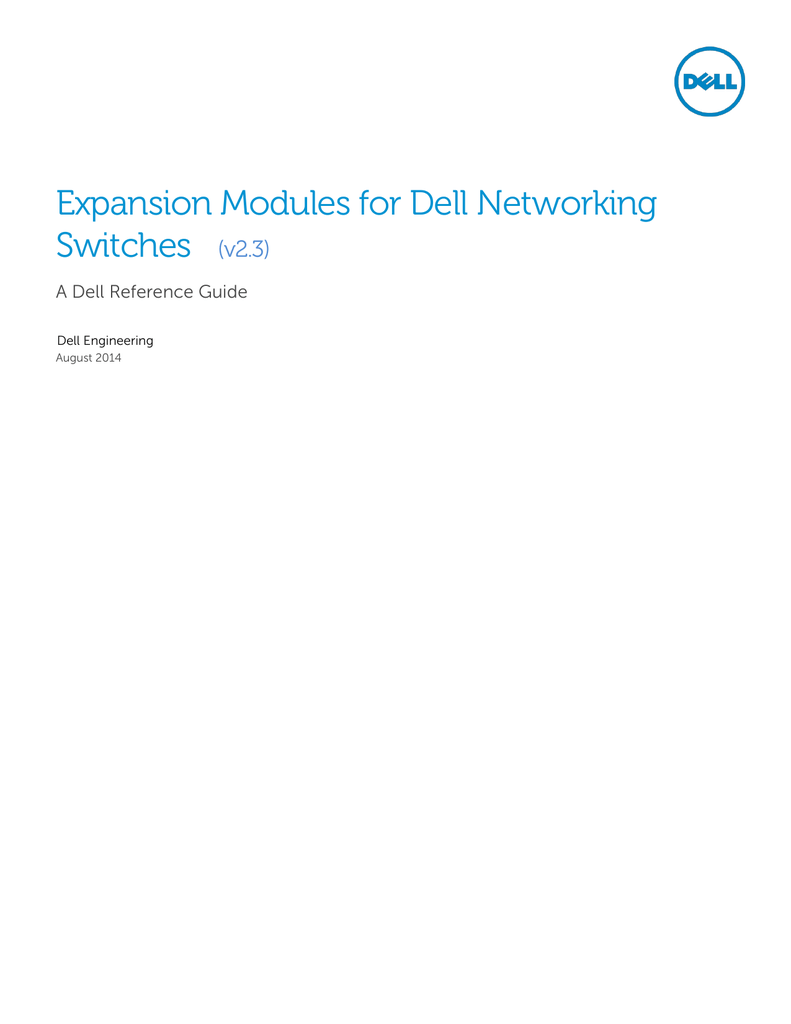 Expansion Modules for Dell Networking Switches