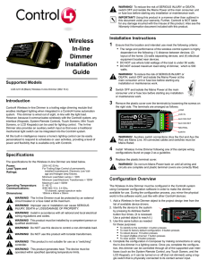 Wireless In-line Dimmer Installation Guide