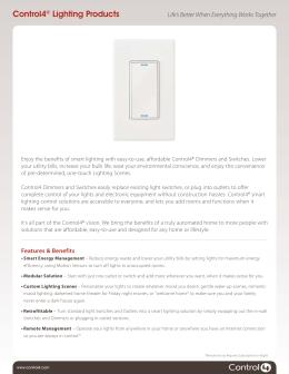 Control4® Lighting Products  sc 1 st  studylib.net & Control4 Lighting Design Guide