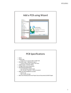 Add a PCB using Wizard PCB Specifications