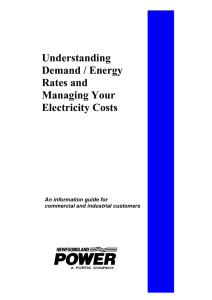 Understanding Demand / Energy Rates and Managing Your