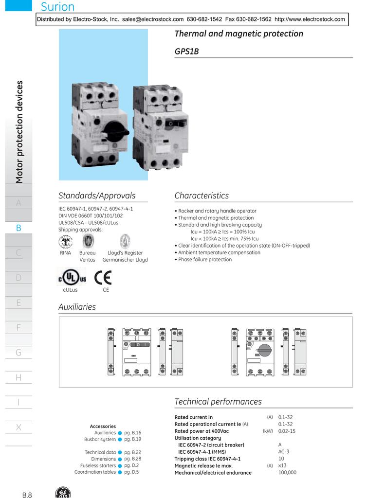 Manual Motor Starters Electro Icu Kw Wiring Diagram