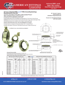 American Fittings Ground Bushings