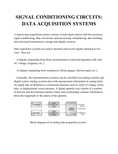 SIGNAL CONDITIONING CIRCUITS: DATA ACQUISITION SYSTEMS