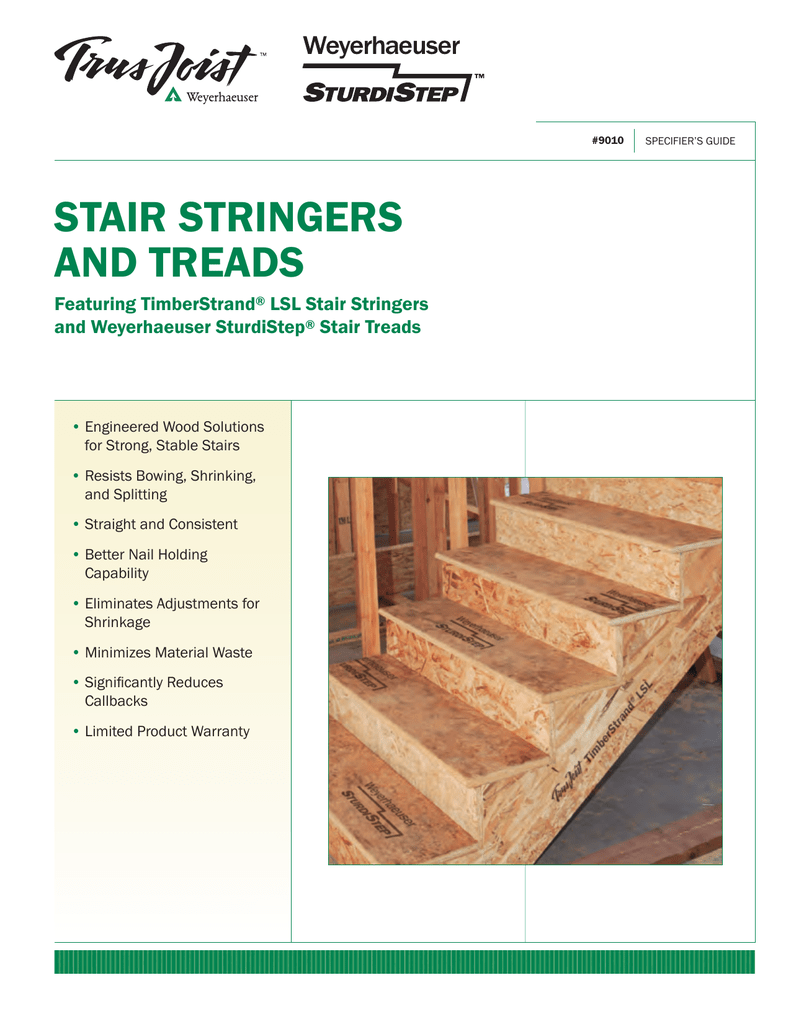 Stair Stringers and Treads Specifier`s Guide