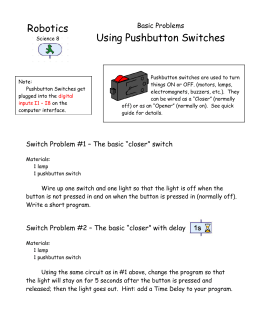 Robotics Using Pushbutton Switches