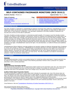 Self-Contained Pacemaker Monitors (NCD 20.8.2)