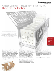 Cooper Lighting® - Innovation you can rely on. Out of the Box Thinking