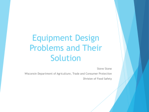 Equipment Design Problems and Their Solution