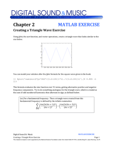 Creating a Triangle Wave Exercise