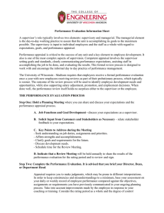 College of Engineering Performance Management Guidelines