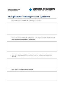 Multiplicative thinking practice questions