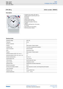 Data sheet TIME SYN 269 g Analogue time switches