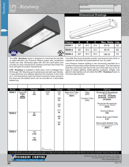 Visionaire Lighting . POG-V . Roadway . LPS-Roadway-HID  sc 1 st  studylib.net & LPS - Visionaire Lighting LLC azcodes.com