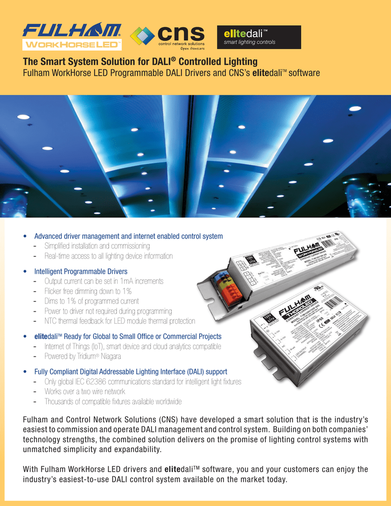 The Smart System Solution for DALI® Controlled Lighting
