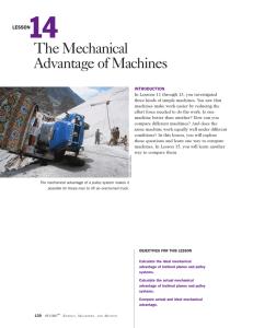 The Mechanical Advantage of Machines