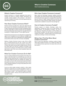 Creativecommons – what is creative commons