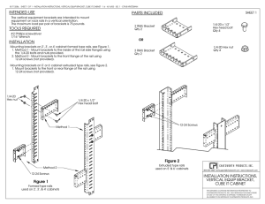 Vertical Mounting Bracket - Installation Instructions