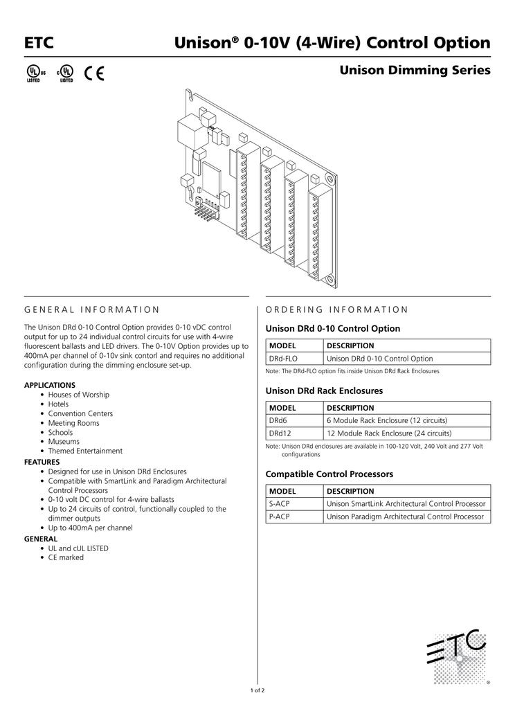 Unison® 0-10V (4-Wire) Control Option ETC - AV-iQ on