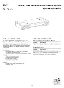 ETC Sensor CEM 3 1 User Manual