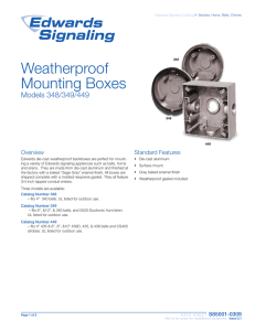 Weatherproof Mounting Boxes