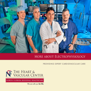 Electrophysiology brochure - North Florida Regional Medical Center