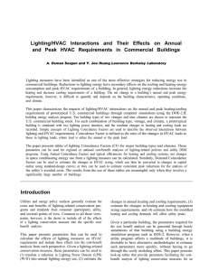 Lighting/HVAC Interactions and Their Effects on Annual and