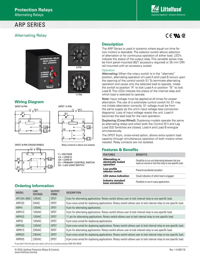 Arp Series Littelfuse Spdt Relay Wiring Diagram Lock
