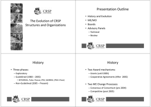 Presentation Outline History History