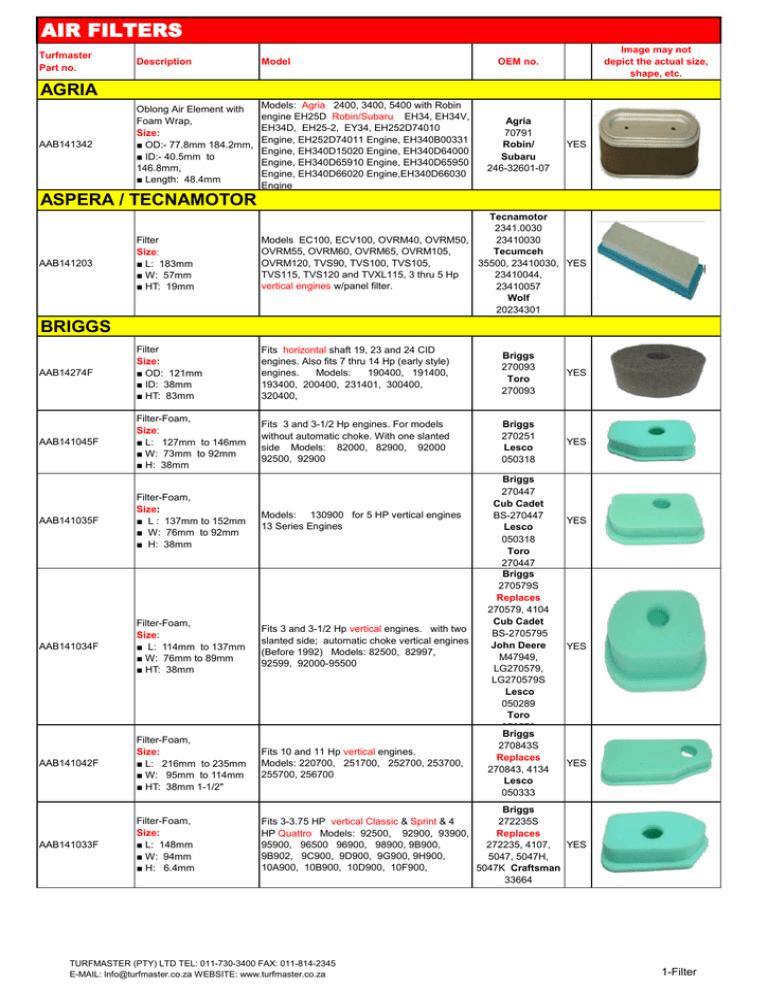 For Kohler XT6 XT7 XT675 Cub Cadet 173cc Air Filter Sponge Lawn Mower Parts Tool