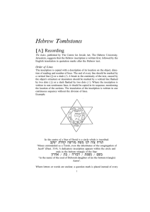 Read Jewish Tombstone