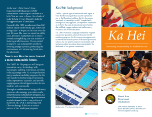 Ka Hei:Background - Hawaii State Department of Education