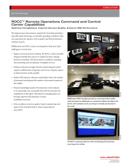 ROCCTM Remote Operations Command and Control Center