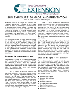 SUN EXPOSURE, DAMAGE, AND PREVENTION