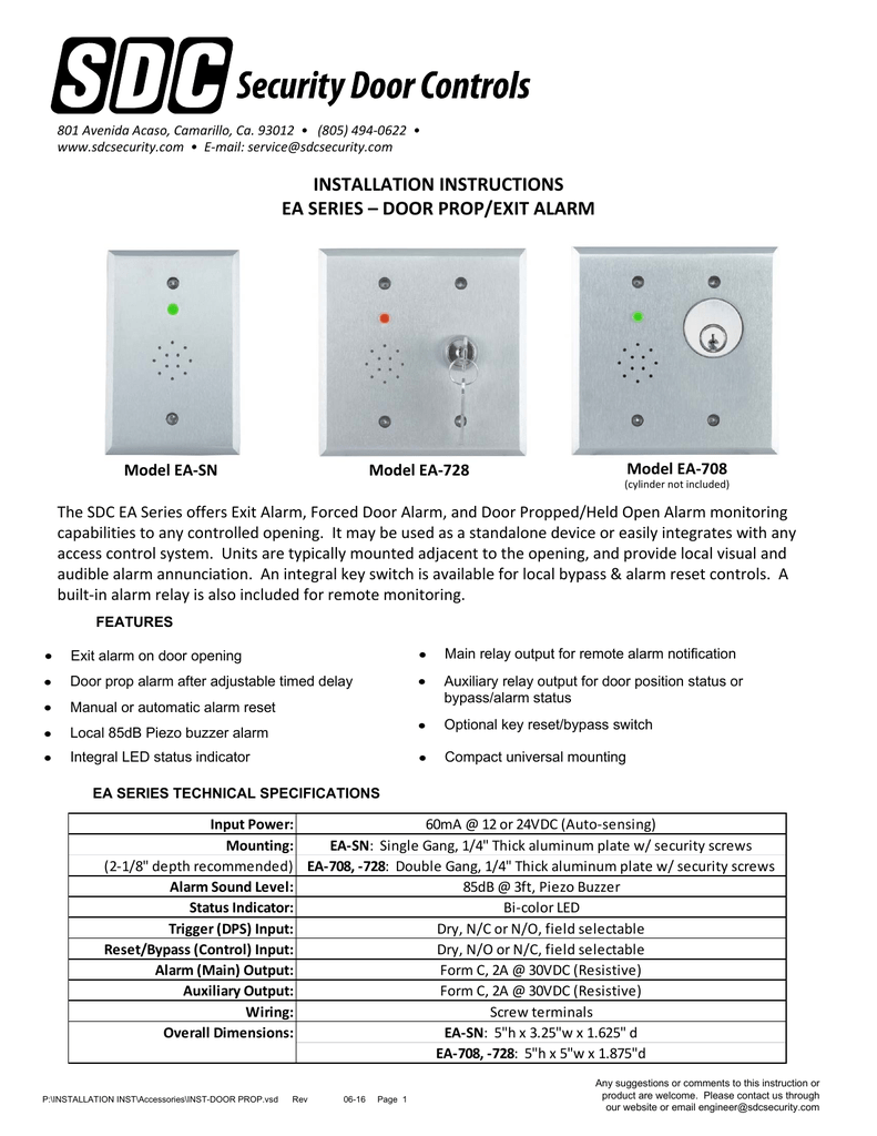Door Prop Alarm Wiring Diagram For Wire Center Viper Relay Visio Inst Vsd Rh Studylib Net Car