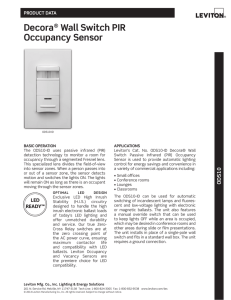 Decora® Wall Switch PIR Occupancy Sensor