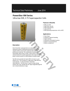 PowerStor XM series 2.7V Supercapacitor Cells