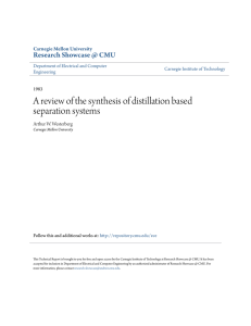 A review of the synthesis of distillation based separation systems