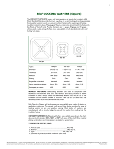 SELF-LOCKING WASHERS (Square) - industrialcomponents