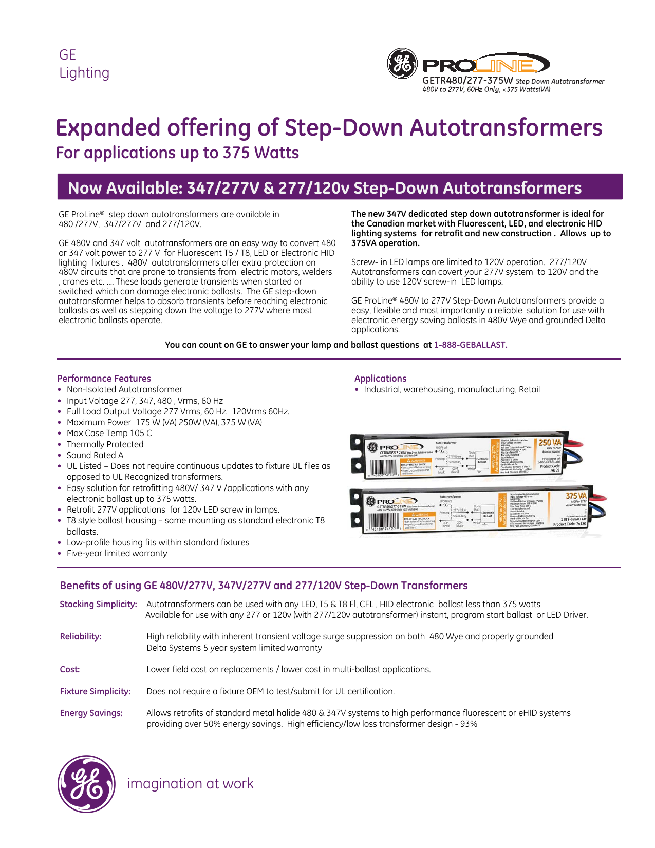 Expanded offering of Step-Down Autotransformers on