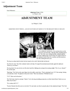 Adjustment Team - Philip K. Dick Fan Site