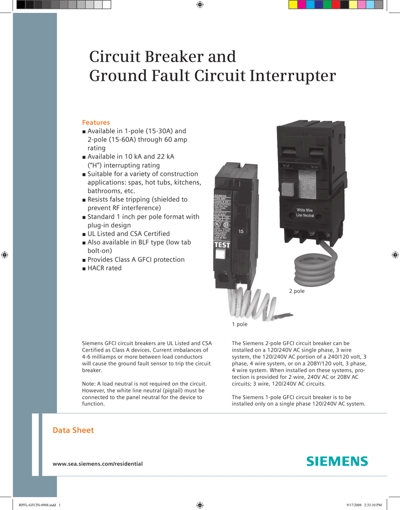 Breaker Pigtail Circuit Gfci Qo 1p 30a Ebay And Ground Fault Interrupter 803x1024