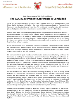 The GCC eGovernment Conference is Concluded